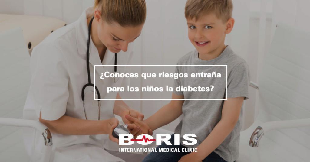 ¿Conoces que riesgos entraña para los niños la diabetes?